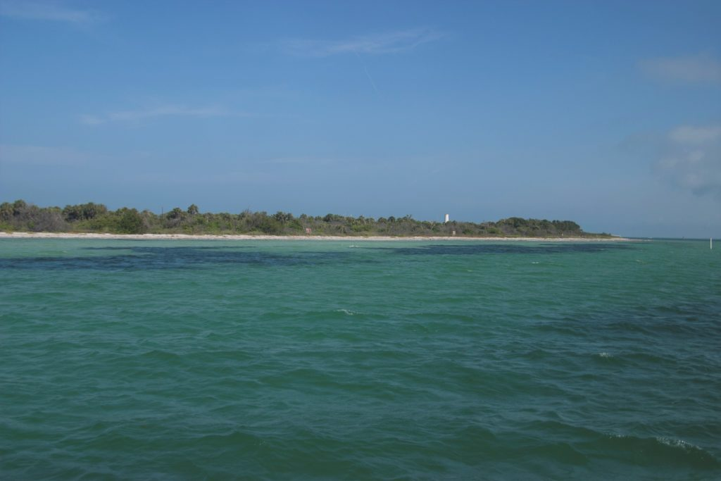 Approaching Egmont Key on the ferry from Fort DeSoto.