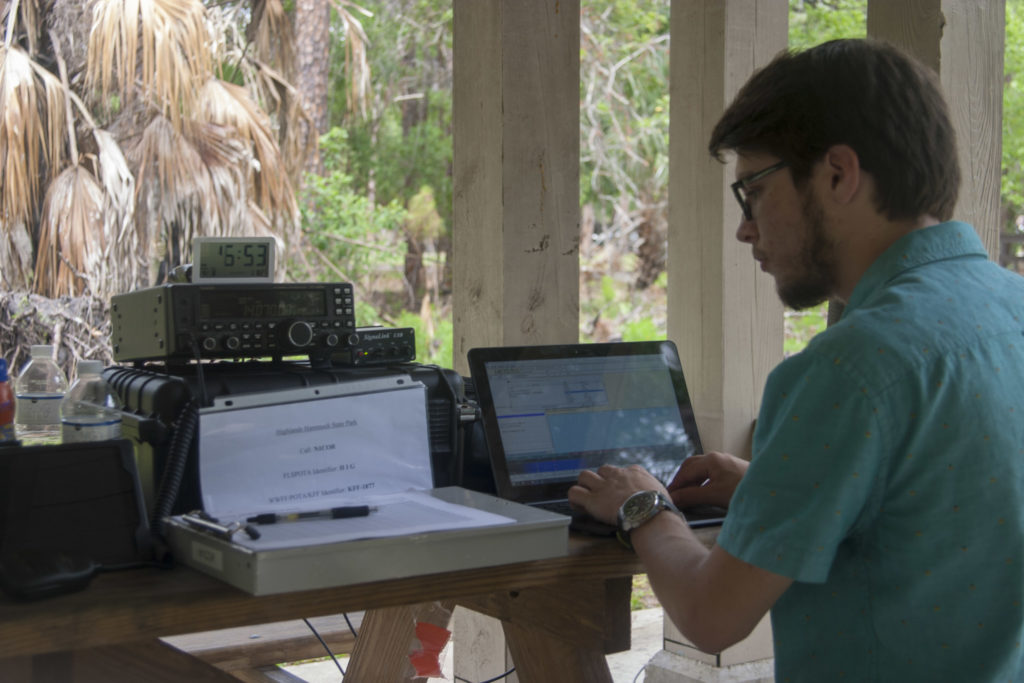 Operating position, WU2F attempting PSK31